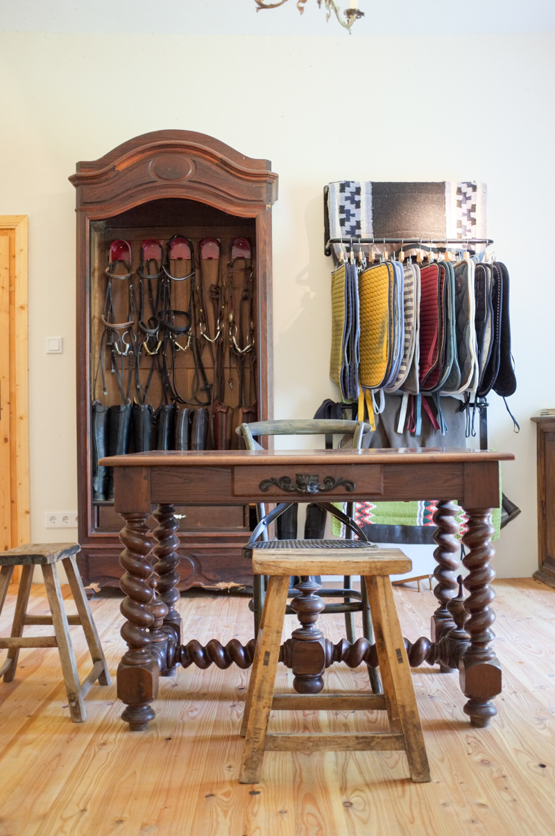 Tour An Organized Tack Room In Austria With Repurposed Furniture Stable Style