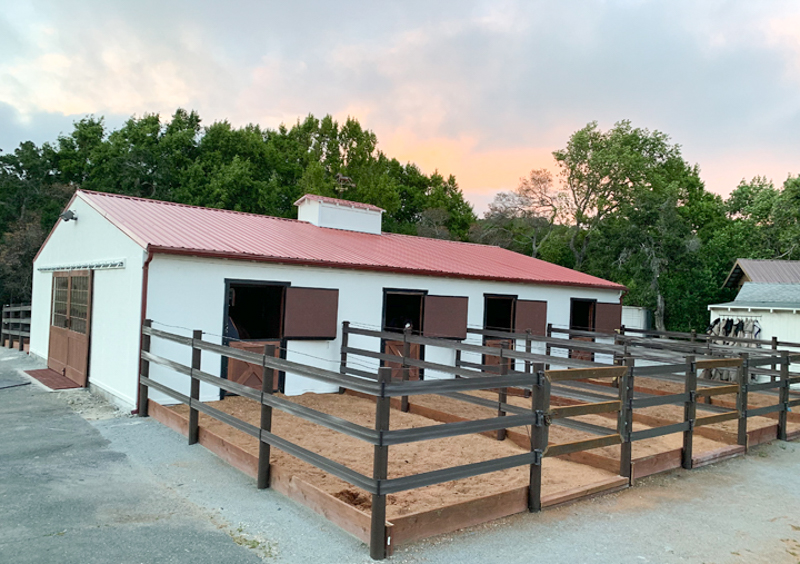 Before and after barn transformation on Stable Style
