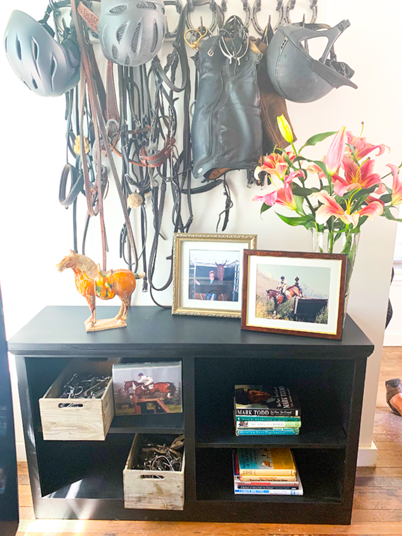 Bridle rack and tack storage