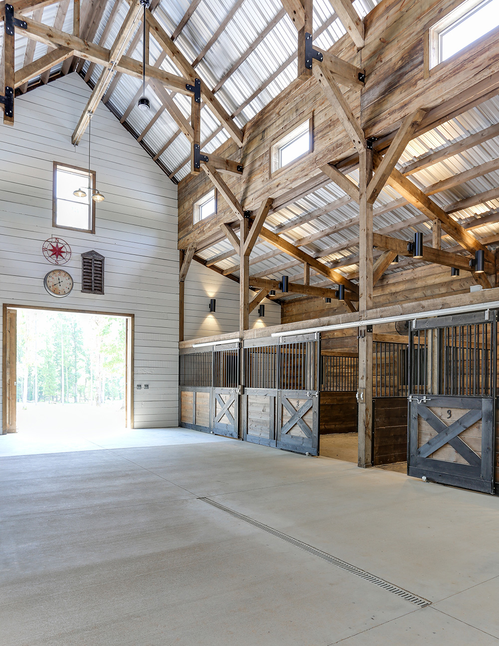 Tour A Stunning Blue Barn In North Carolina Stable Style