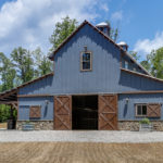 Tour a Stunning Blue Barn in North Carolina